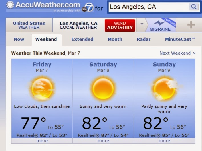 accuweather march 7 2014