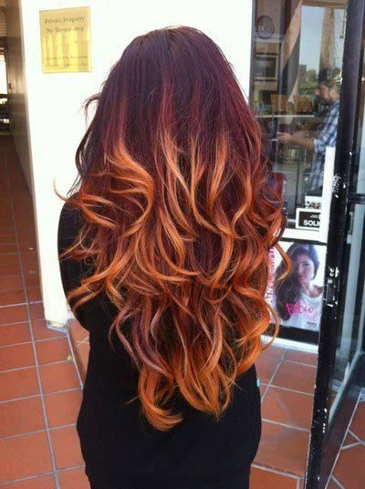 Auburn Red Hair Ombre I love long ombre hair ombre