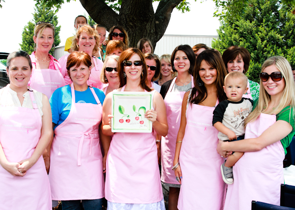 cook for the cure event in asheville north carolina with sommer collier and other food bloggers and friends