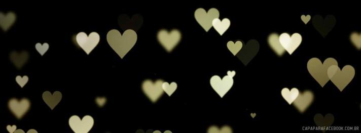 Capa para facebook Chuva de corações