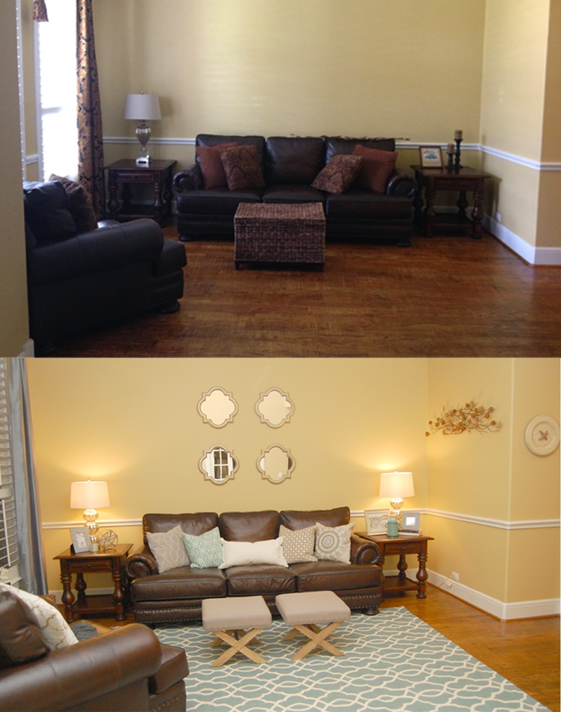Dark And Traditional Living Room, Turned Bright And Modern!