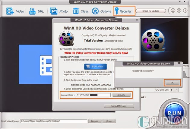 Download WinX HD Video Converter Deluxe Full Legal License Code