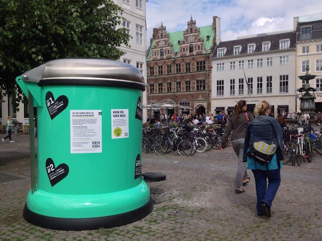 giant Vipp Bin to Keep Copenhagen city Green
