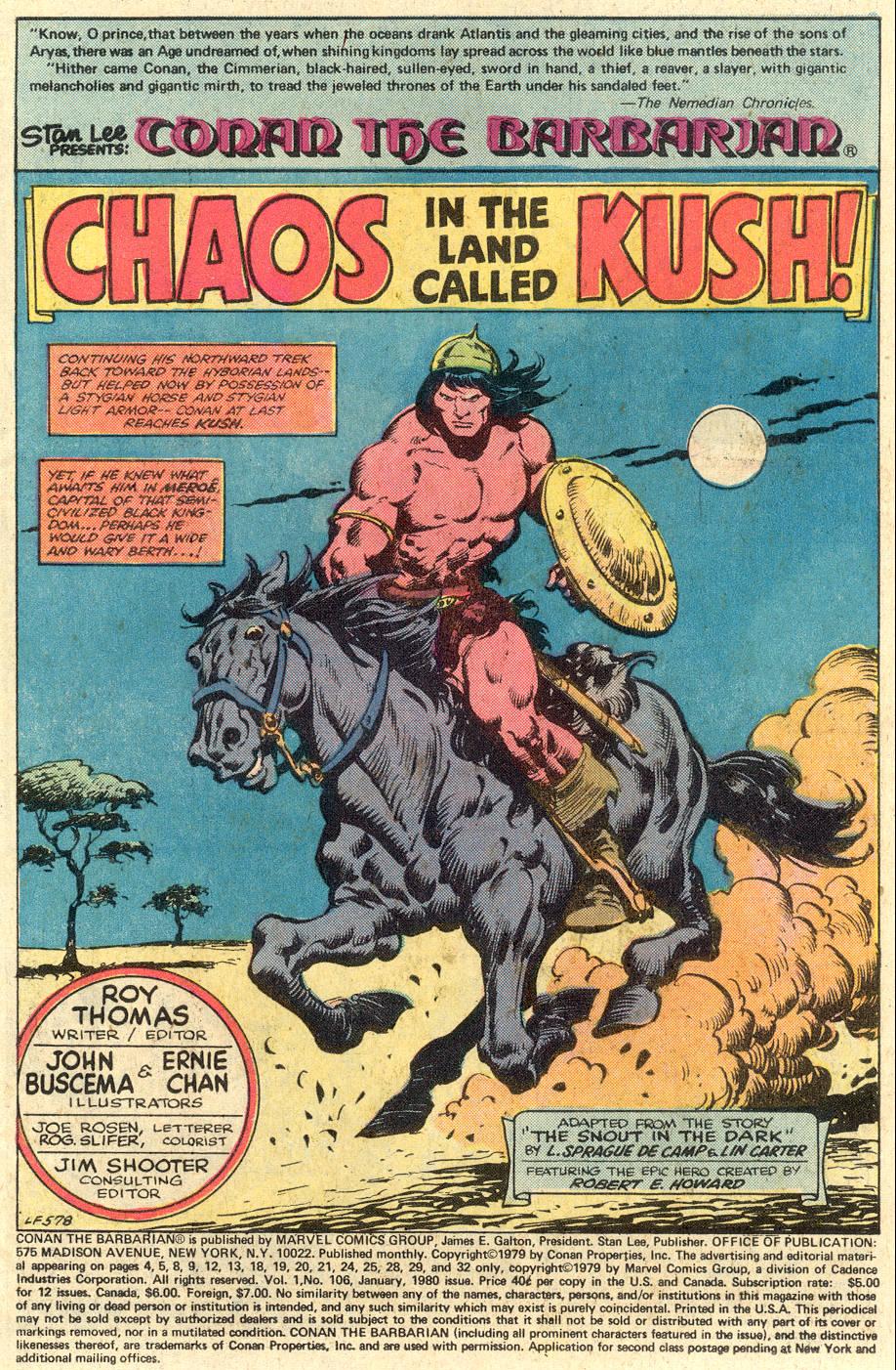 Conan the Barbarian (1970) Issue #106 #118 - English 2