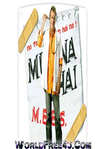 Poster Of Hindi Movie Munnabhai M.B.B.S. (2003) Free Download Full New Hindi Movie Watch Online At worldfree4u.com