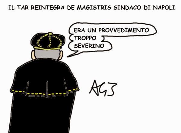 de Magistris, TAR, satira
