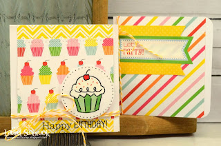 SRM Stickers Blog - Mini Birthday Cards by Laurel - #cards #mini #stickers #birthday #twine #labels #glassine bag