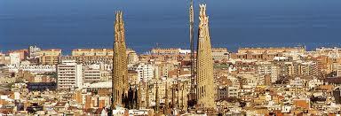 city view Sagrada Famillia barcelona 2012 day
