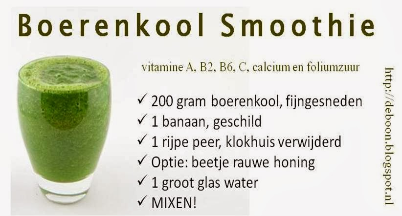 Boerenkool smoothie veggie vegan