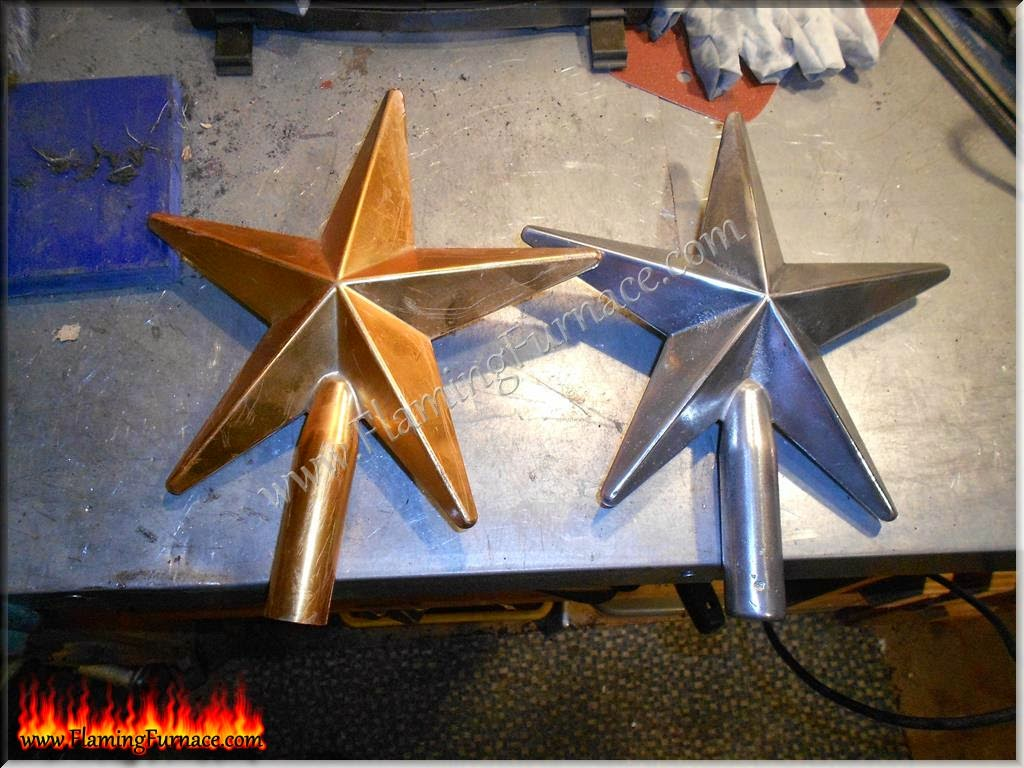 Aluminum star casting using homemade foundry