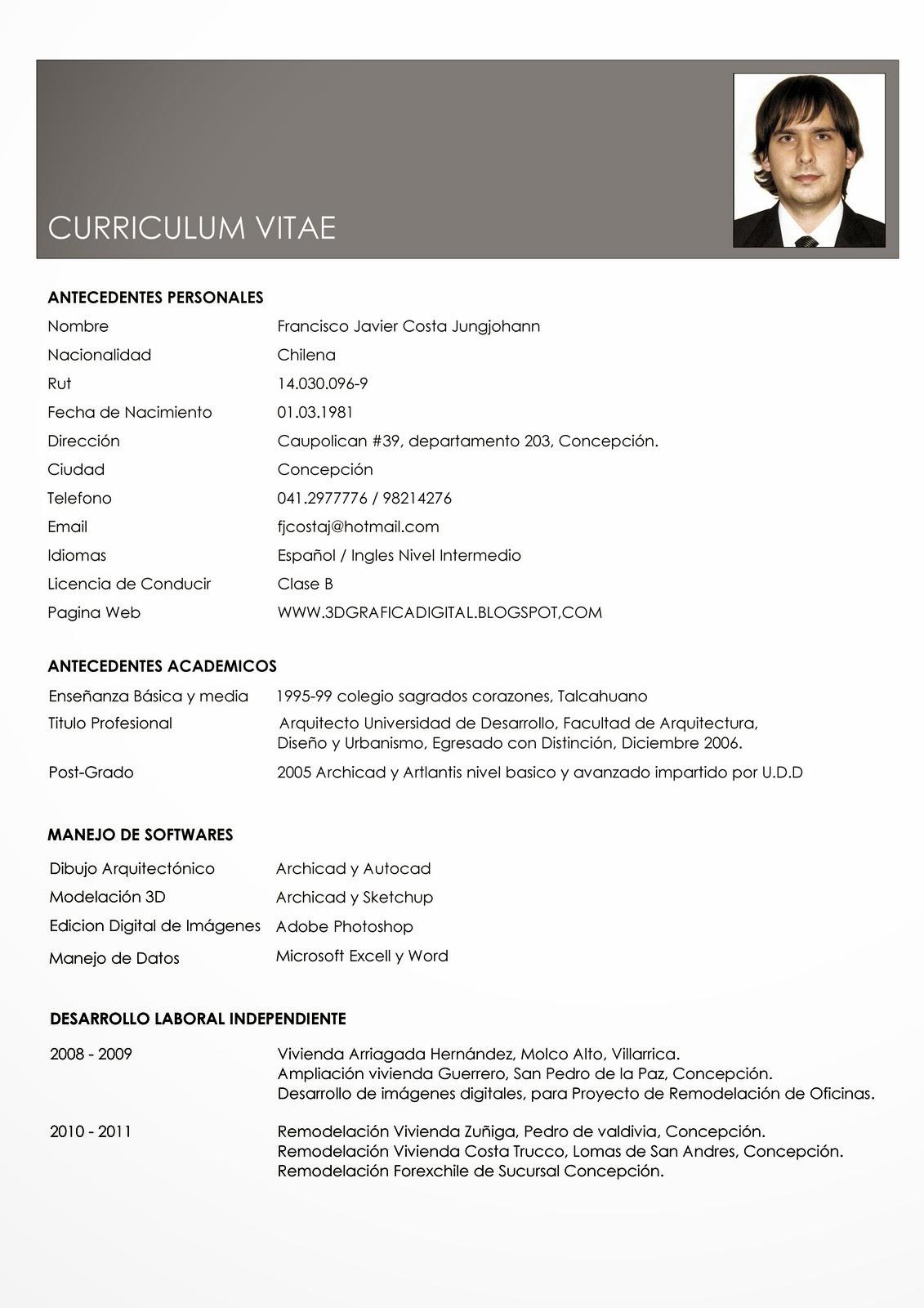 Que contiene curriculum vitae - Tipos de currículum | Modelo Curriculum