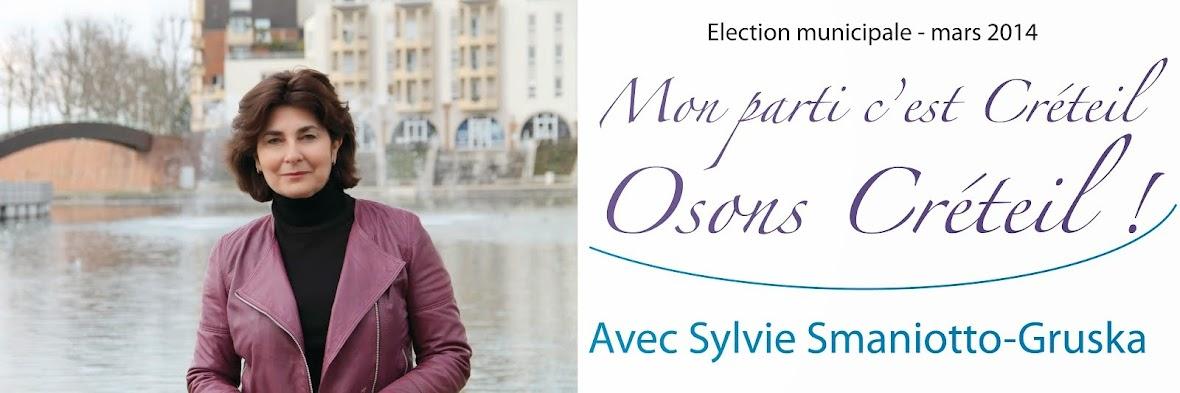 Sylvie Smaniotto Gruska Mon parti c'est Créteil. Osons Créteil