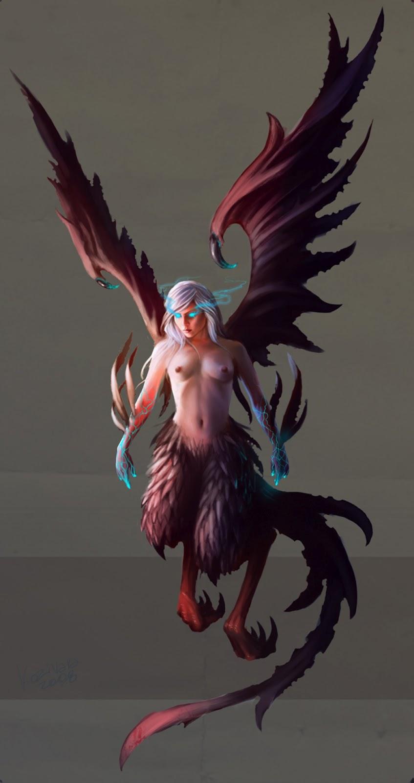 Harpy concept por Kozivara