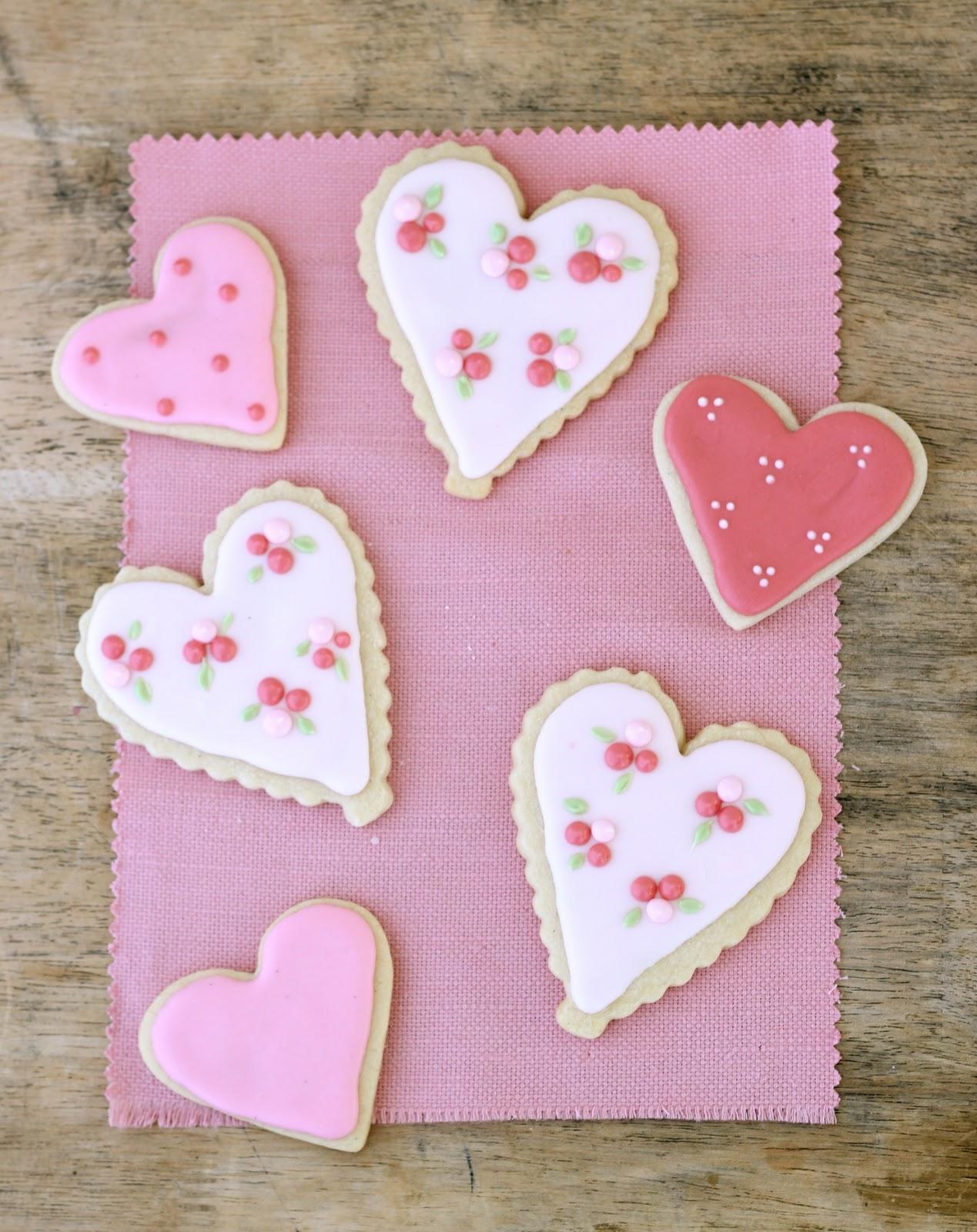 Valentineu0027s Day Sugar Cookies | Heart Cookies For Emmau0027s Baptism