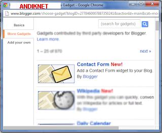 Cara Menambahkan Contact Form Pada widget Blogspot