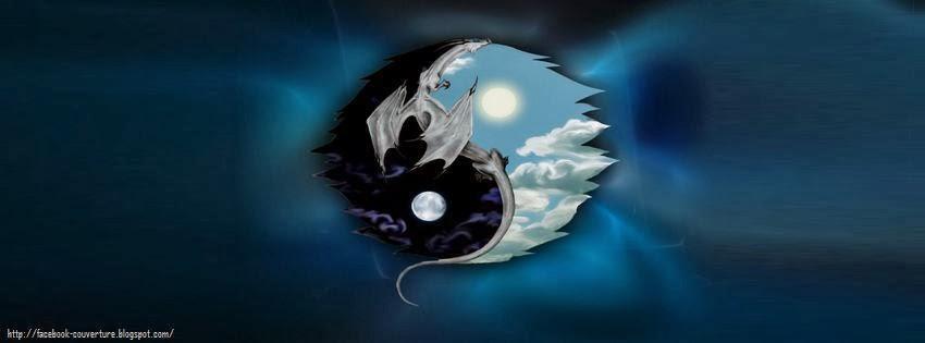 Couverture pour facebook yin yang