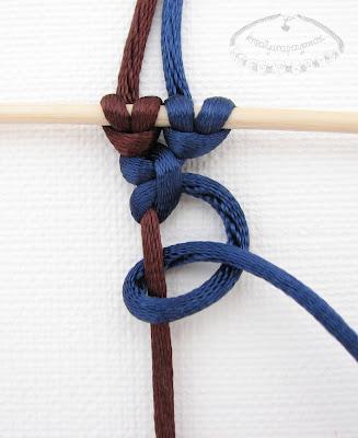 Węzeł frywolitkowy - makrama - 7