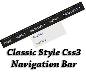 Classic+Style+Css3+Navigation+Bar