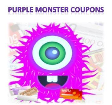 Purple monster coupons
