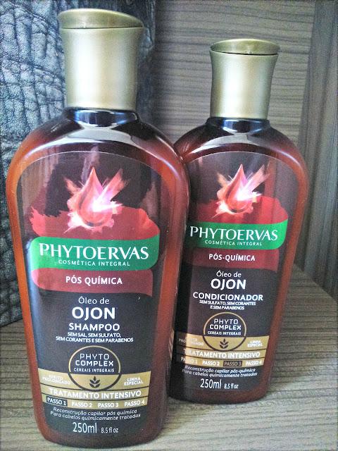 Phytoervas Óleo de Ojon para cabelos quimicamente tratados.