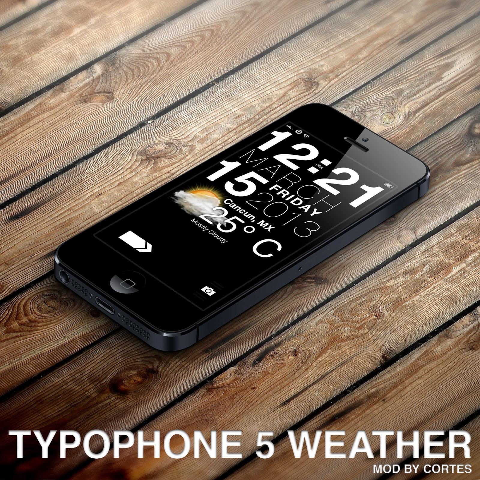 Typophone 5 Weather