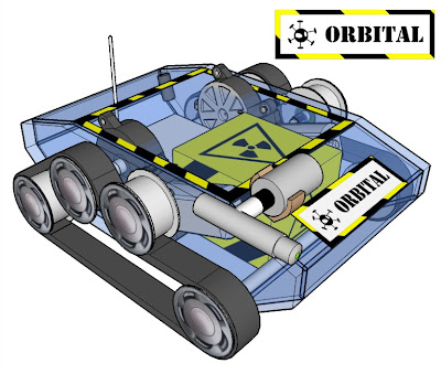 Orbital, veículo movido por esteiras