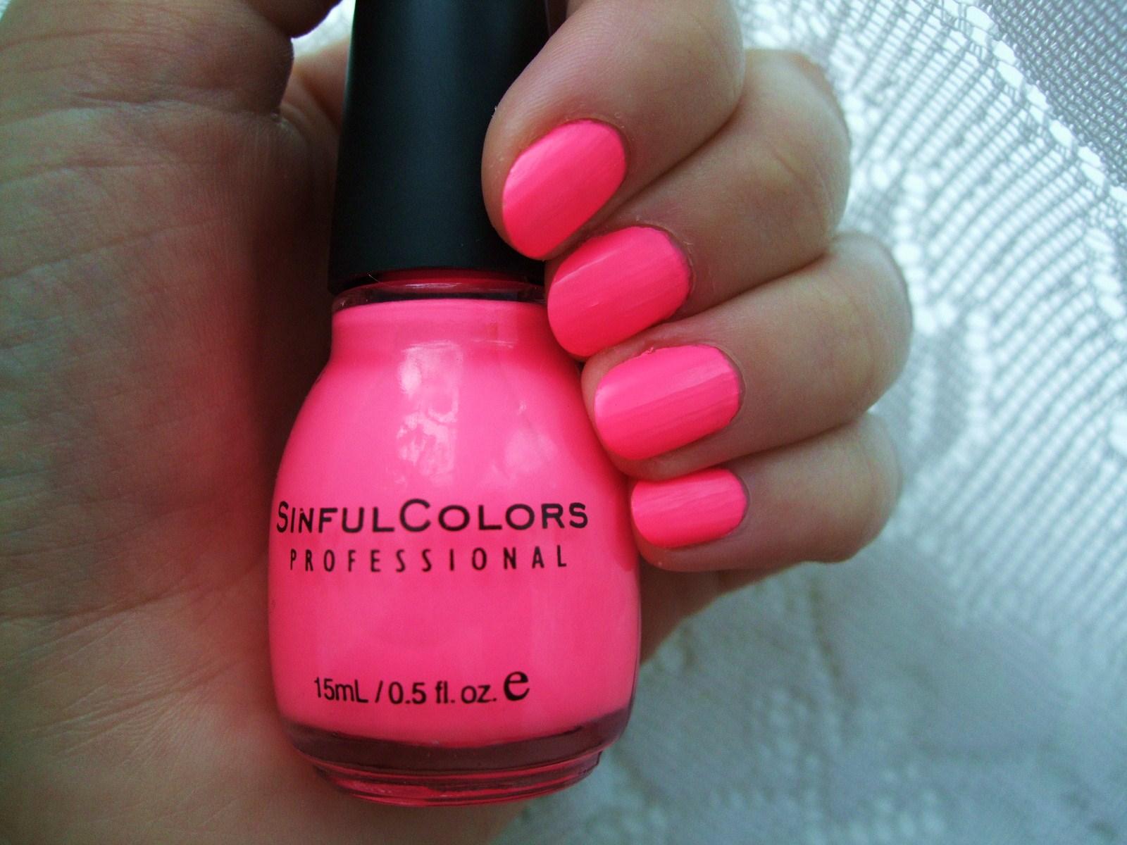 Neon Pink Sinful Colors Nail Polish
