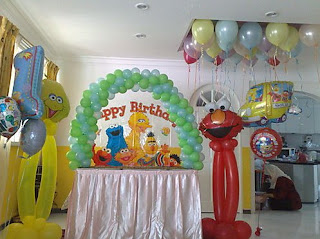 Sesame Street Birthday Party Decoration
