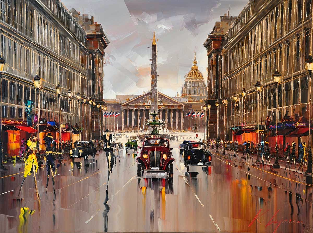 04-Place-de-la-Concorde-Kal-Gajoum-Paintings-of-Dream-Like Cities-of-the-World-www-designstack-co