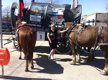 Bonnie gets up close to Texas Trail Rider's Horses