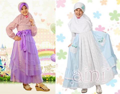baju pesta muslim anak perempuan