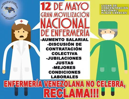EL GREMIO DE PROFESIONALES DE LA ENFERMERÍA , NO CELEBRA ,PROTESTA NACIONALMENTE