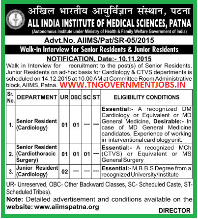 Walk in Interview for Cardiology and CTVS Department Doctors