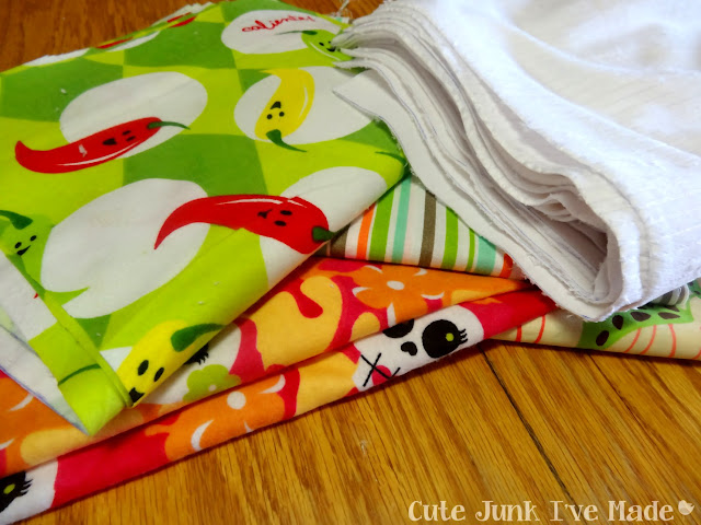 "One-Hour Burp Cloths - Pile of 10x18"" rectangles"