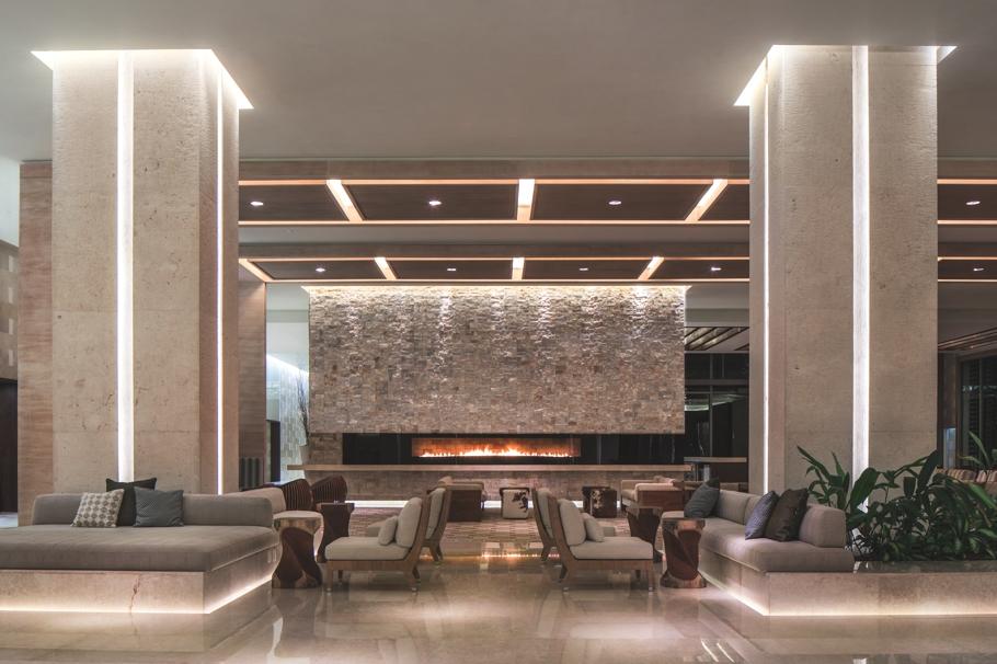 Sleek interior design at the secrets the vine hotel mexico for Design hotel lizum 1600