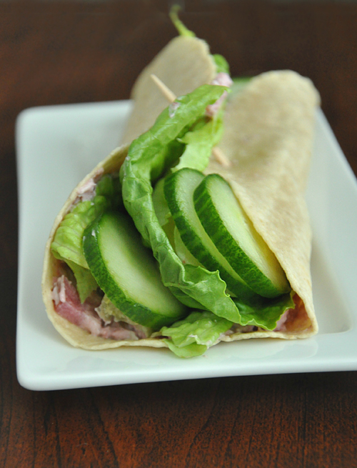 Cranberry Cucumber Veggie Wrap