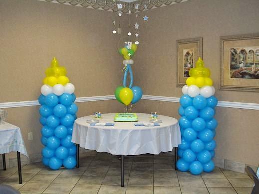 Decoración con globos para baby shower paso a paso « Decoración ...