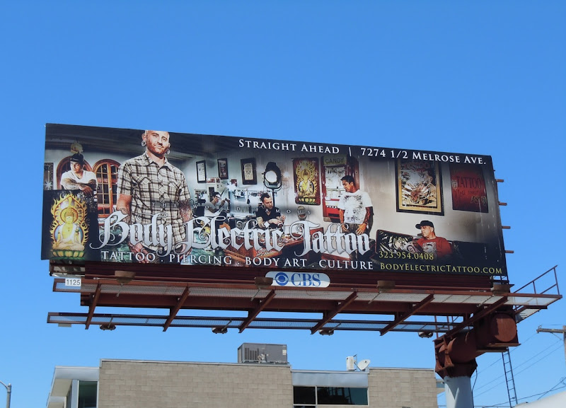 Body Electric Tattoo billboard