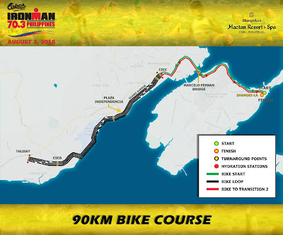 Ironman 70.3 Phiulippines Bike Course