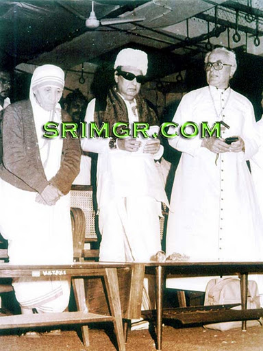 M.G. Ramachandran with Mother Teresa