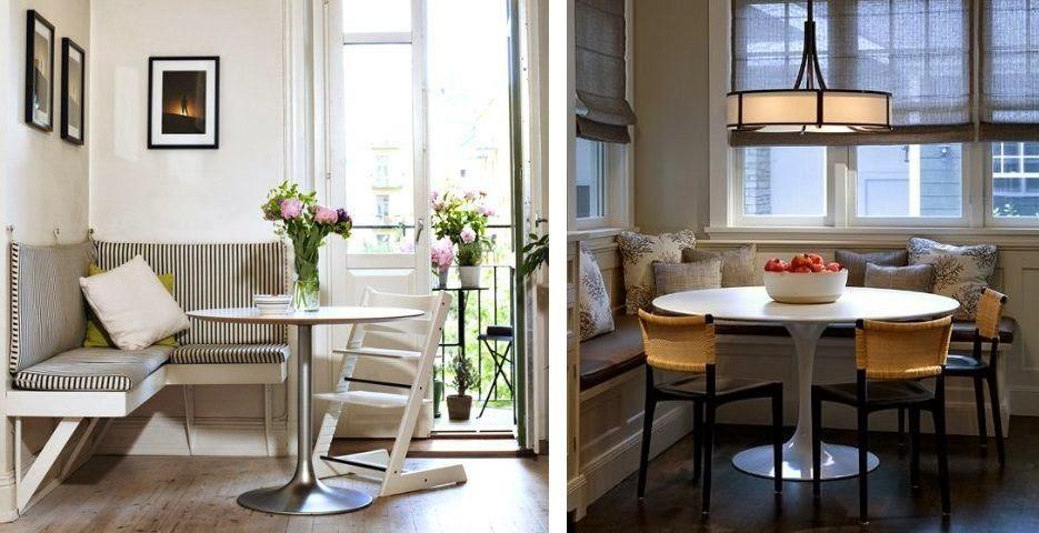 Rincones acogedores para comer en la cocina cocinas con - Bancos esquineros para cocina ...