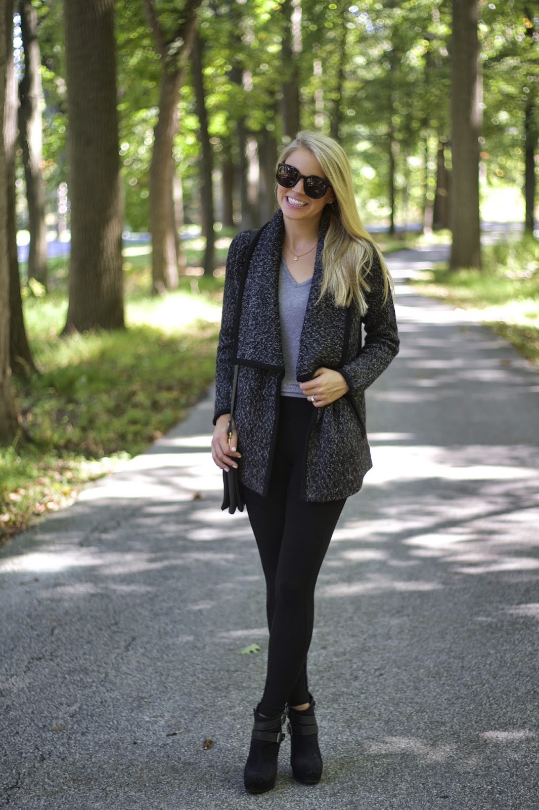 fall fashion trends, black wedge booties, tart collections, oversized sweater coat