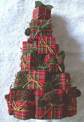 http://www.ebay.com/itm/Red-Plaid-present-Christmas-Tree-Holiday-decor-decoration-/121190965464