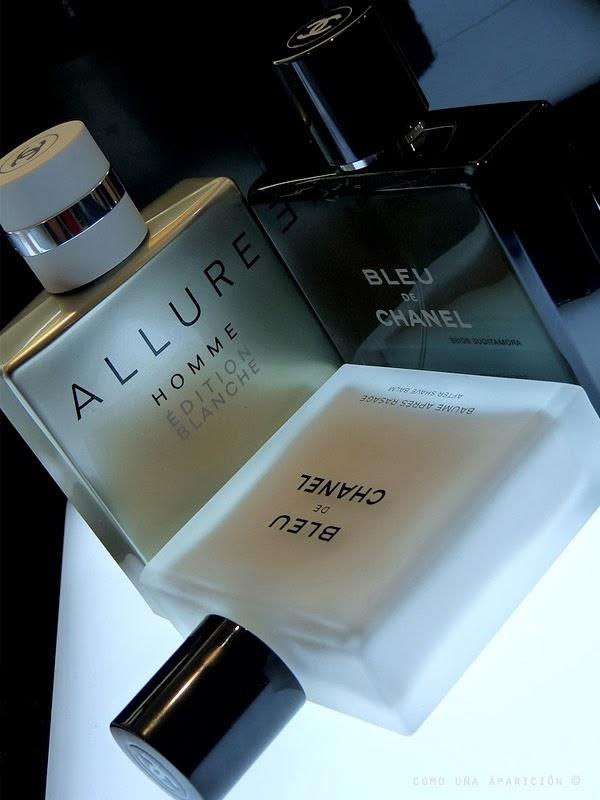 chanel-Allure-Homme-Edition-Blanche-eau-de-toilette-concentrée-Bleu-de-Chanel-eau-de-toilette- Afte-shave-balm-como-una-aparición