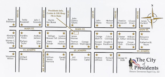plano estatuas de Rapid City