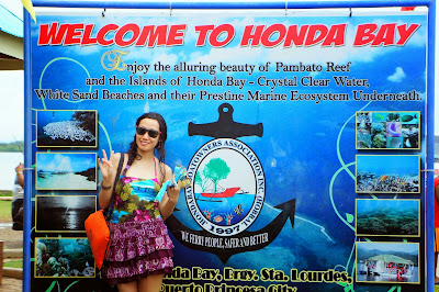 Trisha Sebastian after the Honda Bay tour in Puerto Princesa Palawan