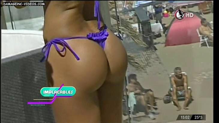 Ecuador model Mayra Alexander hot booty in thong HD video