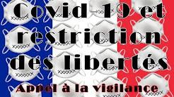 Covid-19 et restriction des libertés : vigilance citoyenne