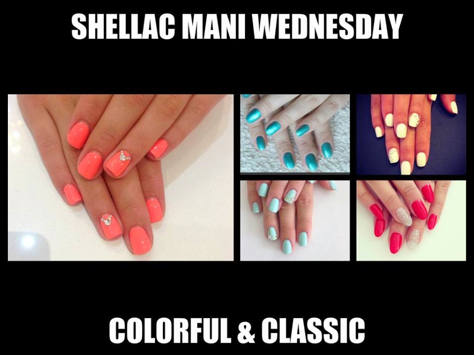 Shellac-manicure-acrylic-back-fills-overlays-Tropix-Hotski-Tchotchke-Roug-Red-VIP-Silver-Studio-White-Mint-Convertible-stones-striping-tape-feats-Hot-Pop-Pink-feat-Strawberry-Smoothie