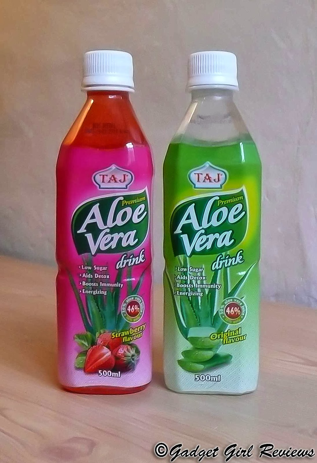 gadget girl reviews new premium aloe vera juice drinks from taj foods review. Black Bedroom Furniture Sets. Home Design Ideas